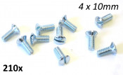 4 x 10mm domed countersunk screw with slot type head (pack of 10)