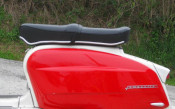 Black Pegasus 'flatbase' seat for Lambretta S1 + S2 (LOW fronted version) + Series 3