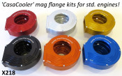 Complete CasaCooler gold CNC mag flange kit for original Lambretta engines