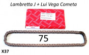 VERY HIGH QUALITY 75 link Iwis drive chain for Lambretta Lui Vega Cometa + J