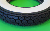 """High quality Continental 3.50 x 10"""" white-wall tyre"""
