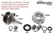 Crankshaft flywheel side needle bearing (3 piece type) for Lambretta J + Lui Vega Cometa