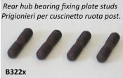 Set of 4 x studs for rear hub bearing fixing plates