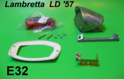 Complete rear light unit Lambretta LD '57