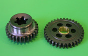 Pair of first gear cogs (modified for smooth gear selection)