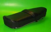 Black Pegasus 'flatbase' seat for Lambretta S3 (HIGH fronted version) + Series 1 / 2