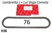 IWIS chain for Lambretta Luna + Vega + Cometa + J - 76 link