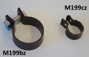 Main exhaust clamp for 42mm 'Clubman' exhaust