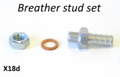 Special breather stud set for use with petrol pump Mikuni X18c