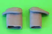 Pair of outer cable protection rubber guides (for horncasting) Lambretta LD '56