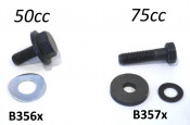Special bolt + washer crankshaft drive sprocket Lambretta J + Lui 50cc (3 speed models)