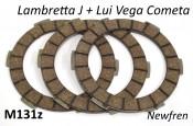 Newfren clutch plates Lambretta Vega + J50 + Cento + J125 3M + Starstream