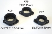 Rubber inlet manifold for Dell'Orto 32 - 34 - 36mm for Casa Performance SS kits