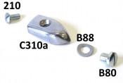 Aluminium floor runner endcap Lambretta S3 + Special + TV3 + SX + J50 Deluxe + Serveta