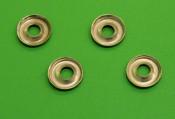 Set 4 x  'cup' washers for front headlight rim screws Lambretta S1
