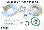 Complete CasaCooler silver CNC mag flange kit for original Lambretta engines