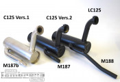 Nickle plated exhaust system Lambretta C125 (Vers.1)
