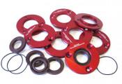 CNC drive side oilseal plate with 'O' ring + Viton oilseal for Lambretta J + Lui Vega Cometa