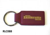 High quality dark red 'Rimini Lambretta Centre' leather key fob
