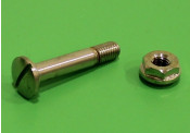 Nickle plated bolt + nut for chrome main frame seat / tank support tubes