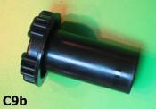 Black petrol tank cap Lambretta D + LD + E + F