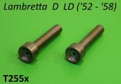 Pair of front fork spring inner guide rods Lambretta D LD ('52 - '58)