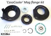 Complete CasaCooler black CNC mag flange kit for original Lambretta engines
