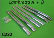 Chromed floorboard runner set for Lambretta A + B models
