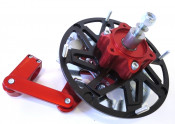 Casa Performance CasaDisc hydraulic front brake kit - Anodised Red - Lambretta S1 + S2 + TV2 + S3 + TV3 + Special + SX + DL + Serveta