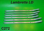Aluminium floorboard runner set for Lambretta LD125 Deriv. '56 + LD125 '57