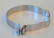 Chrome frame clamp for outer cable grease nipples