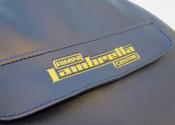 'Rimini Lambretta Centre' blue spare wheel cover with pocket + embossed logo