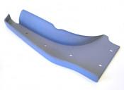 Left hand (flywheel side) rear footboard for Lambretta S3 + TV3 + Special + SX + Serveta
