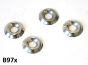 Set of 4 x cupped dish shaped washers for inside leghields
