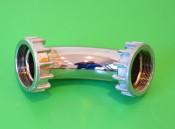 Chrome exhaust downpipe manifold for Lambretta Model A + B