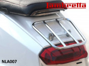 Chrome horizontal 'sports' rear carrier accessory for Lambretta V-Special