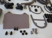 COMPLETE HIGH QUALITY ITALIAN MADE rubber parts set for Lambretta LI150 Series 3