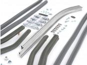Complete grey front & rear floorboard runner kit for Lambretta S3 (all models)