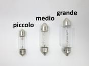 6V 10W torpedo festoon bulb for headlight, medium size