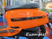 Set of high quality GLOSS BLACK sidepanel speed stripes for New Lambretta V Special