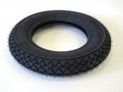 "Reinforced TUBELESS Michelin S83 3.50 x 10"" classic tread pattern"