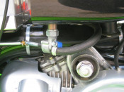 ITALIAN MADE rear exit 'Fast Flow' petrol tap for tuned Lambrettas
