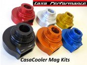 Complete CasaCooler blue CNC mag flange kit for original Lambretta engines