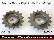 15T front sprocket (cush drive type) for Lambretta Lui Vega Cometa + J
