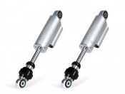 Pair of black BGM 'PRO F16 COMPETITION' front shock absorbers for Lambretta S1 + S2 + S3 + GP / DL