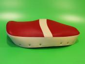 Red + cream dual seat cover