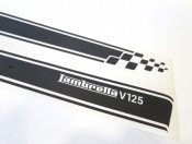 Set of high quality MATT BLACK sidepanel speed stripes for New Lambretta V Special