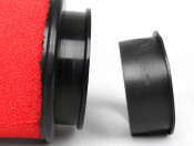 Marchald red 9.5cm high performance air filter for carbs with EXTERNAL mouth of 46 - 62mm