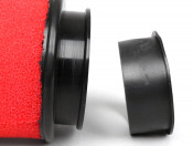 Marchald red 6.5cm high performance air filter for carbs with an EXTERNAL mouth of 46 - 62mm