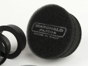 Marchald black 6.5cm high performance air filter for carbs with an EXTERNAL mouth of 46 - 62mm